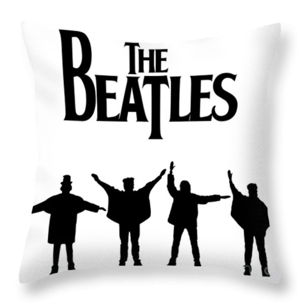 The Beatles No.06 Throw Pillow by Caio Caldas
