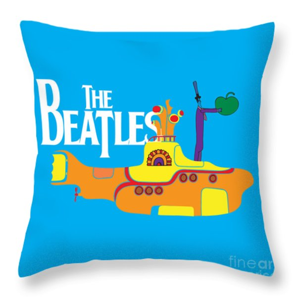The Beatles No.11 Throw Pillow by Caio Caldas