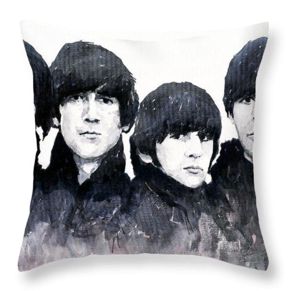 The Beatles Throw Pillow by Yuriy  Shevchuk
