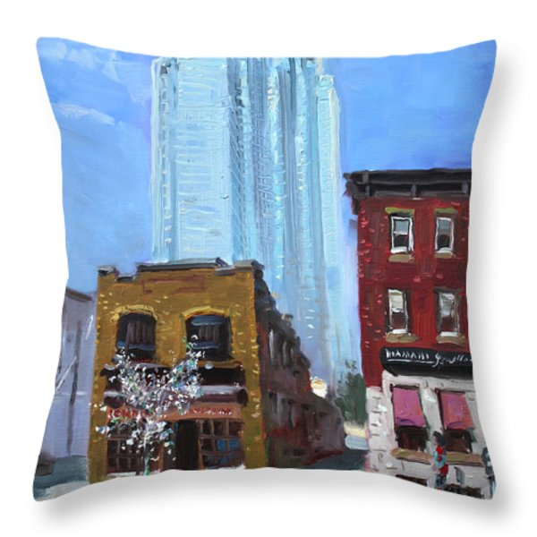 The Beauty N' The Background In London Canada Throw Pillow by Ylli Haruni