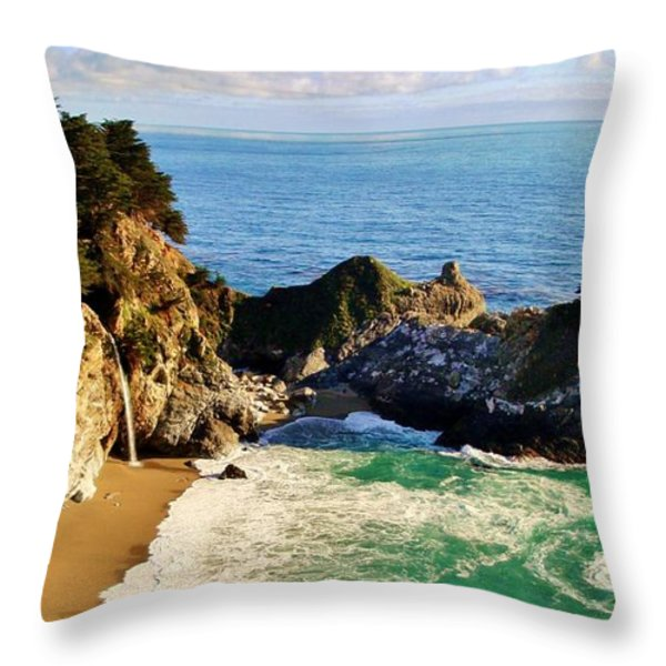 The Beauty Of Big Sur Throw Pillow by Benjamin Yeager