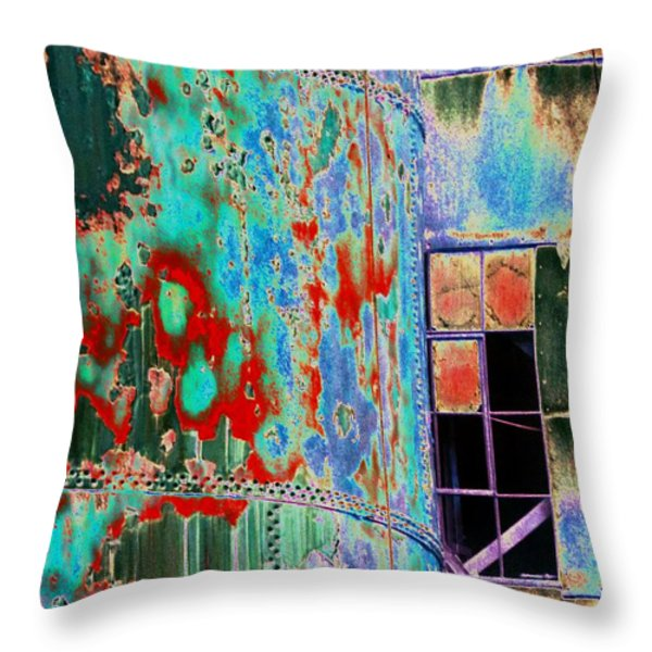 The Beauty Of Steel Throw Pillow by Marcia Lee Jones