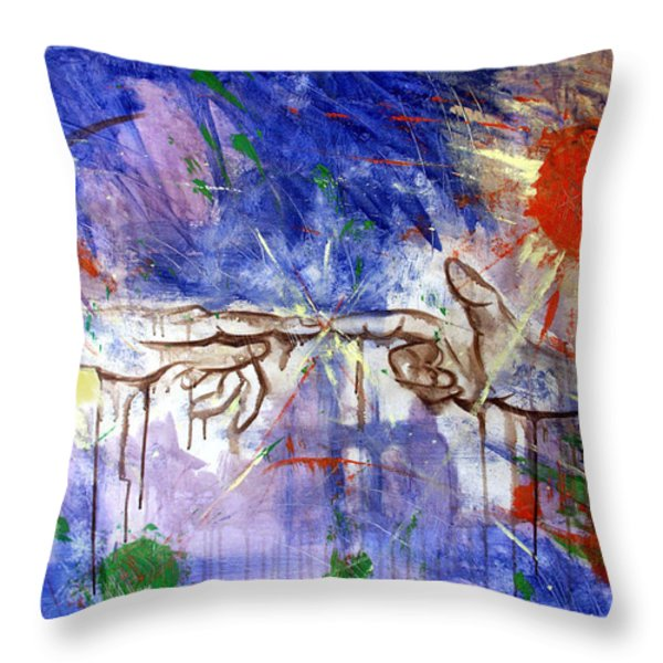 The Beginning Throw Pillow by Anthony Falbo