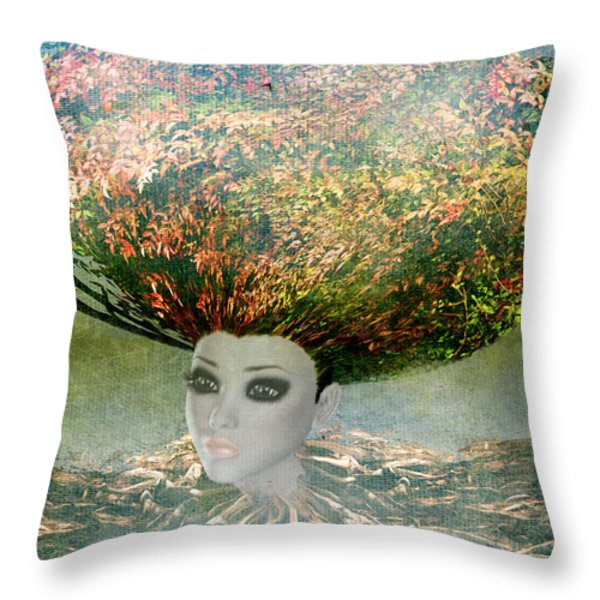 The Beginning Throw Pillow by Terry Fleckney