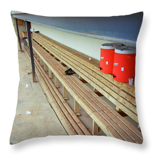 The Bench Throw Pillow by Frank Romeo