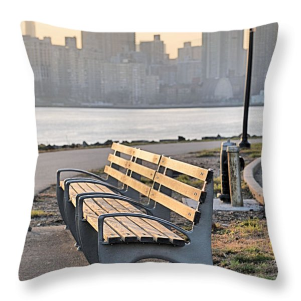 The Bench Throw Pillow by JC Findley