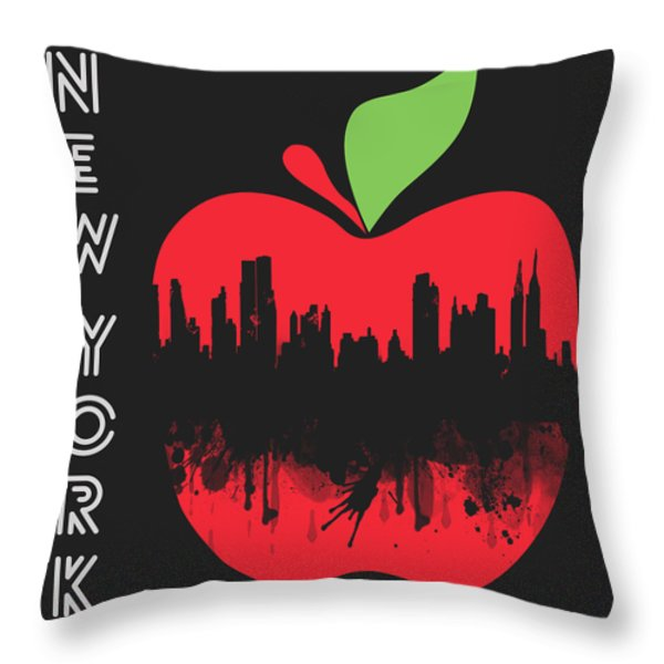 the Big Apple Throw Pillow by Mark Ashkenazi