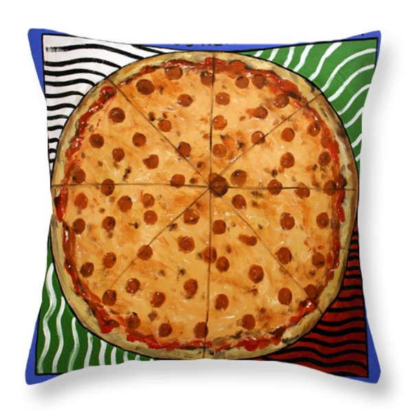 The Big Ass New York Pizza Throw Pillow by Anthony Falbo