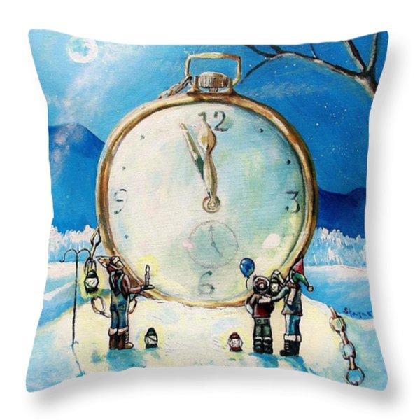 The Big Countdown Throw Pillow by Shana Rowe Jackson