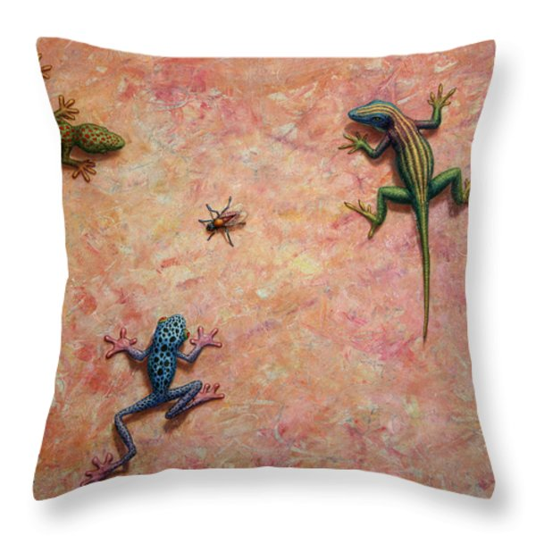 The Big Fly Throw Pillow by James W Johnson