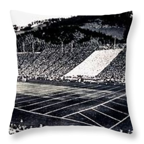 The Big Game 1919 Throw Pillow by Benjamin Yeager