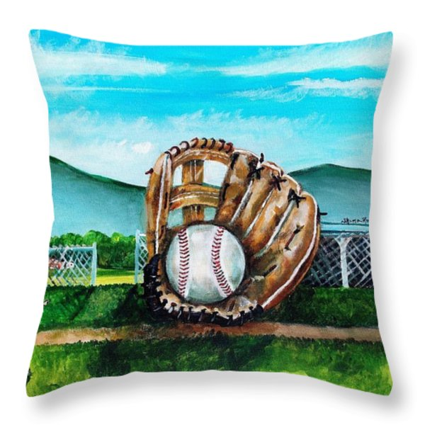 The Big Leagues Throw Pillow by Shana Rowe Jackson