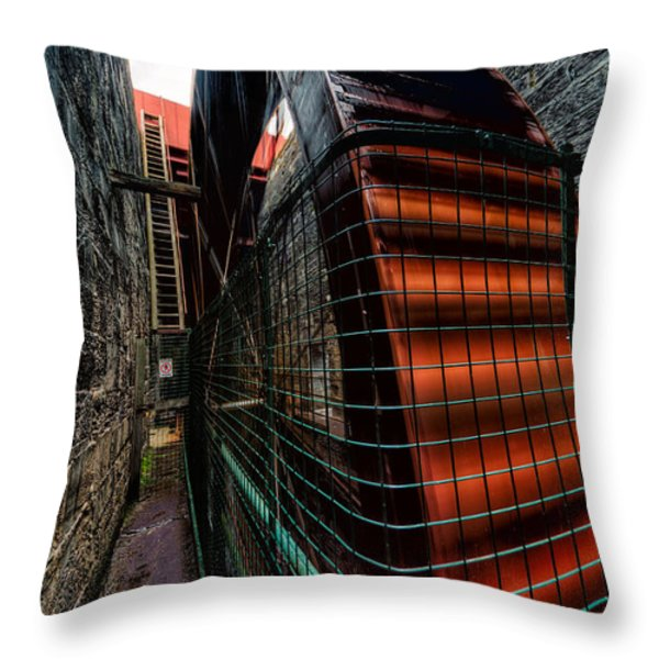 The Big Wheel Throw Pillow by Adrian Evans