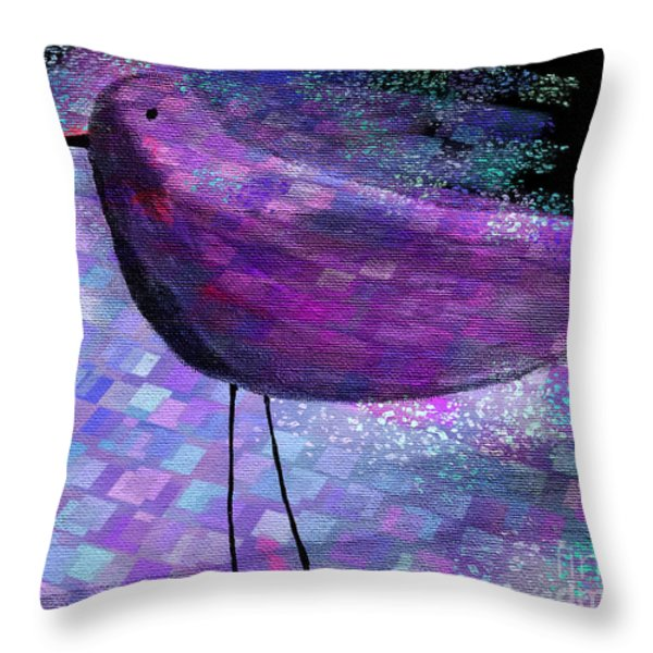 The Bird - S40b Throw Pillow by Variance Collections