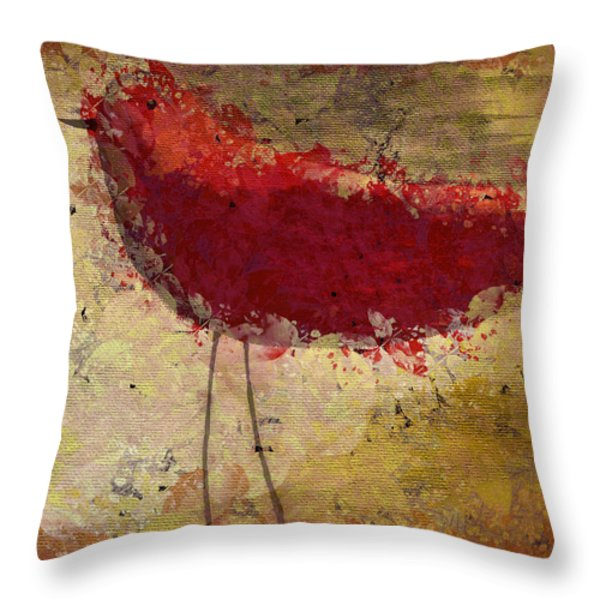 The Bird - S65b Throw Pillow by Variance Collections