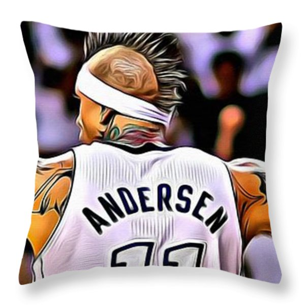 The Birdman Throw Pillow by Florian Rodarte