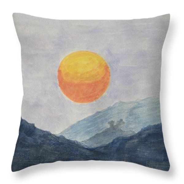 The Birth Throw Pillow by Sonali Gangane