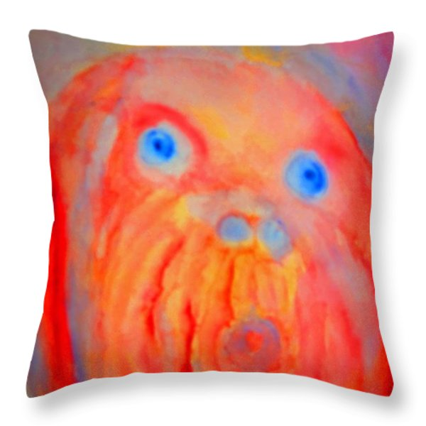 The Blue Eyed Hulder Throw Pillow by Hilde Widerberg