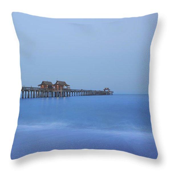 The Blue Hour Throw Pillow by Kim Hojnacki