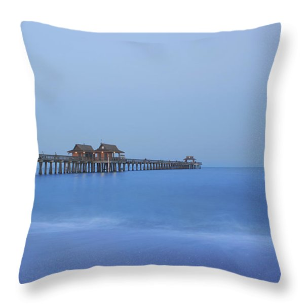 The Blue Hour Throw Pillow by Kim Hojnacki