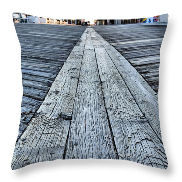 The Boardwalk Throw Pillow by JC Findley