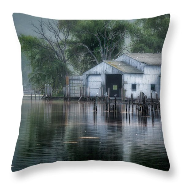 The Boathouse Throw Pillow by Bill  Wakeley