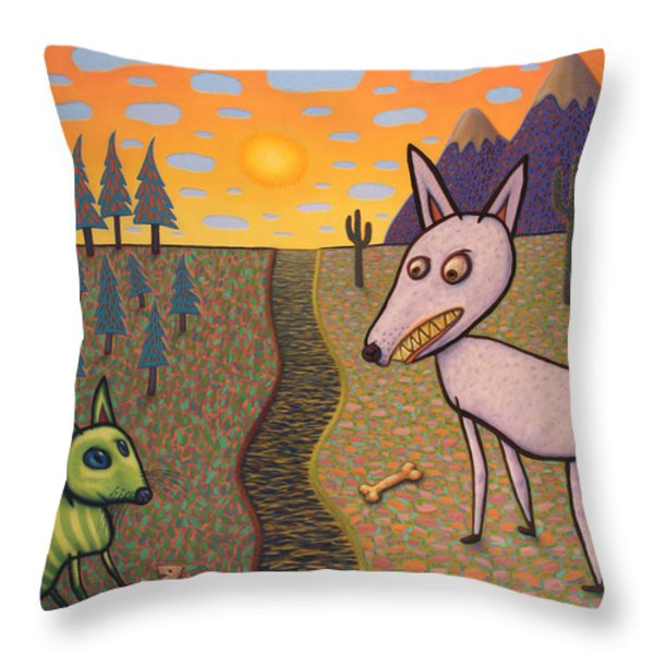 The Border Throw Pillow by James W Johnson