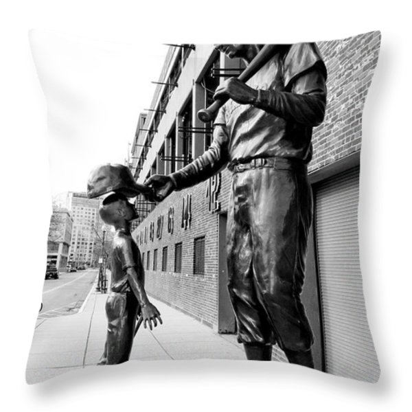 The Boston Legend Throw Pillow by Greg Fortier