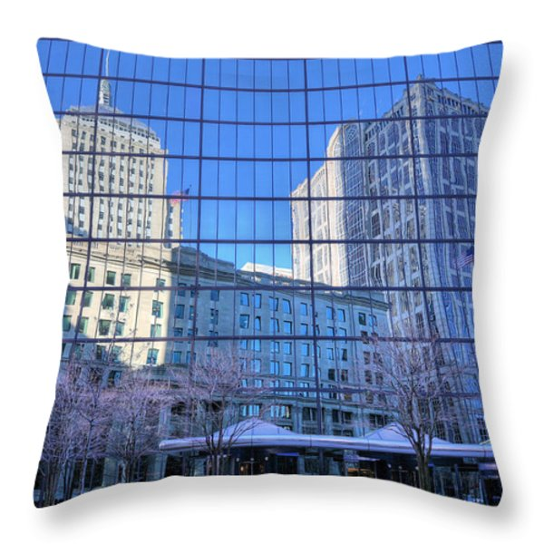 The Boston Skyline Throw Pillow by JC Findley