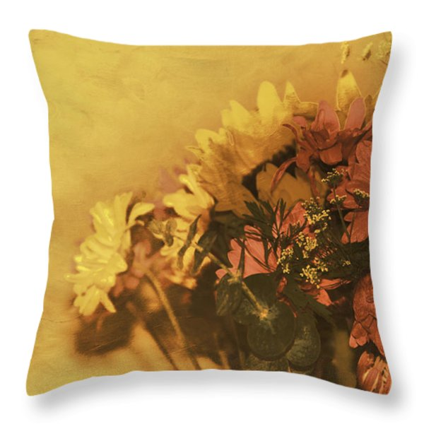 The Bouquet Throw Pillow by Diane Schuster