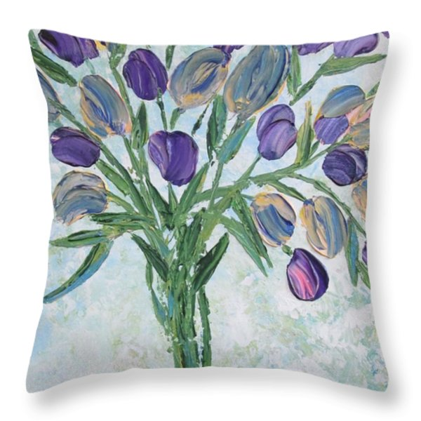 The Bouquet I Throw Pillow by Molly Roberts