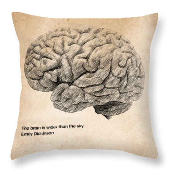 The Brain Is Wider Than The Sky Throw Pillow by Taylan Soyturk