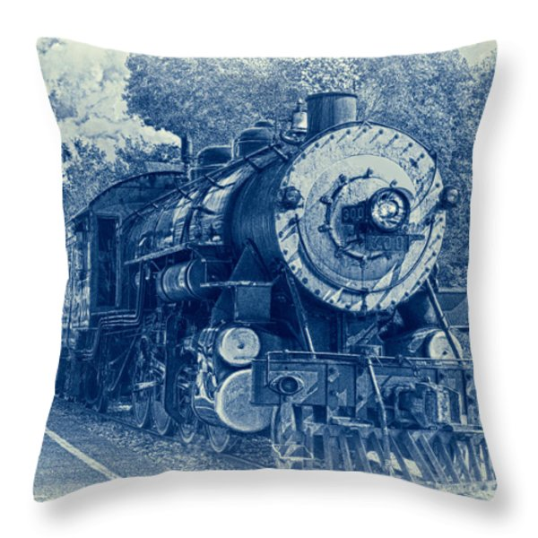 The Brakeman - Vintage Throw Pillow by Robert Frederick
