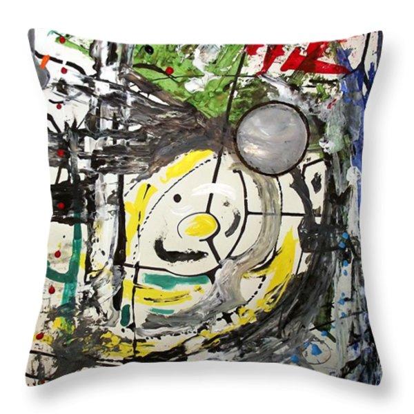 The Brave Little Toaster Throw Pillow by Daniel Piskorski