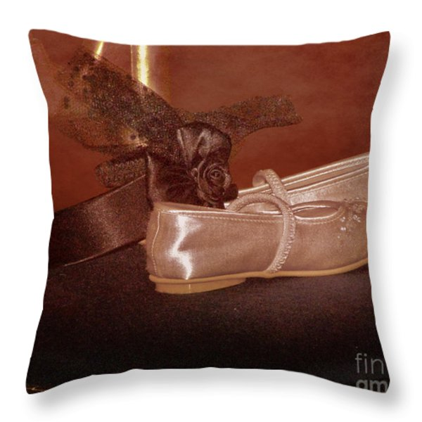 The Bridesmaid's Shoes Throw Pillow by Terri Waters