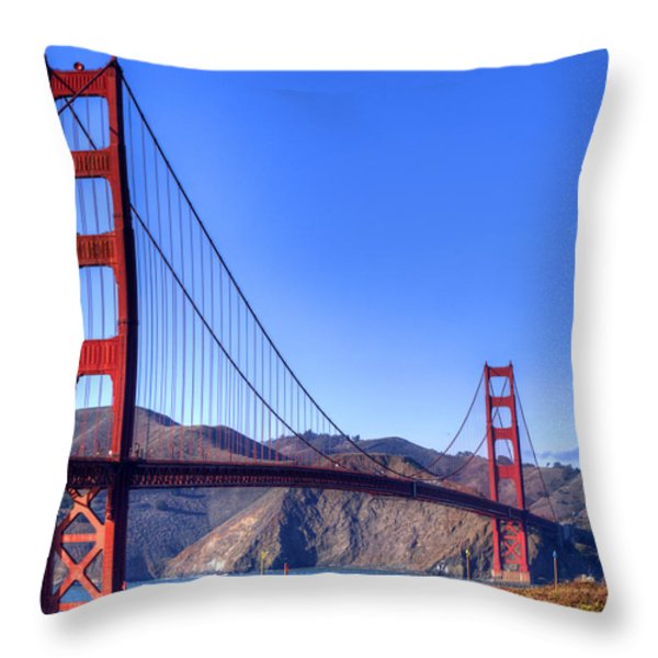 The Bridge Throw Pillow by Bill Gallagher