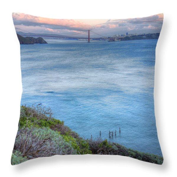 The Bridge Throw Pillow by JC Findley