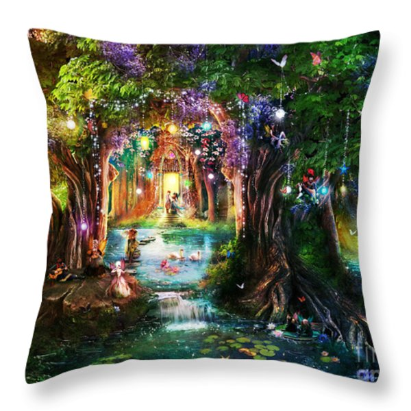 The Butterfly Ball Throw Pillow by Aimee Stewart