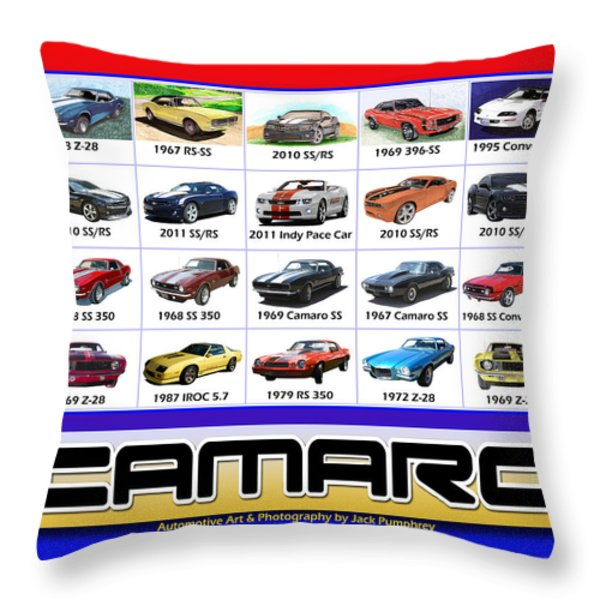 The Camaro Poster Throw Pillow by Jack Pumphrey