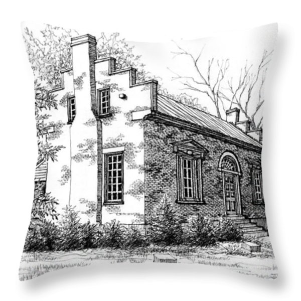 The Carter House in Franklin Tennessee Throw Pillow by Janet King
