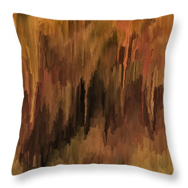 The Cave Throw Pillow by Michael Pickett