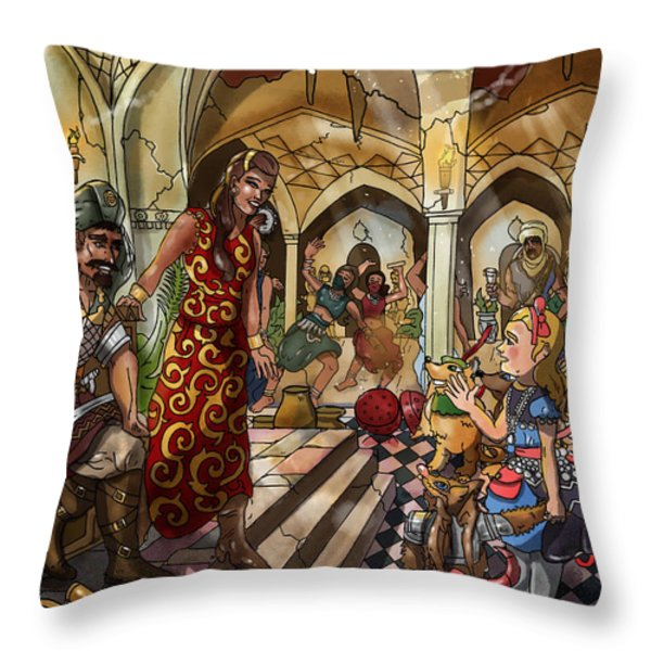 The Cave Of Ali Baba Throw Pillow by Reynold Jay