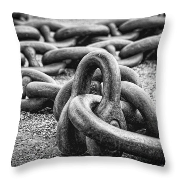 The Chain Throw Pillow by Erik Brede