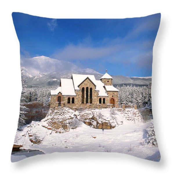 The Chapel on the Rock 3 Throw Pillow by Eric Glaser