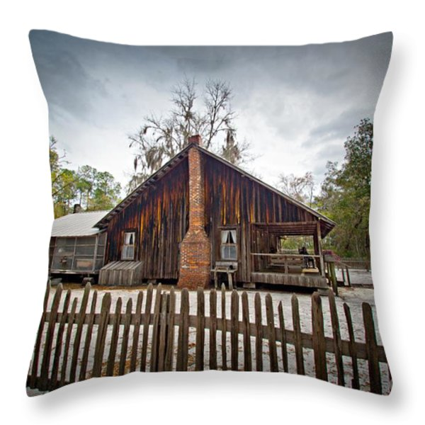The Chesser Homestead Throw Pillow by M J Glisson