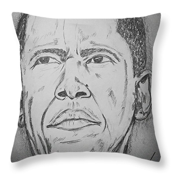 The Chief Obama Throw Pillow by Collin A Clarke