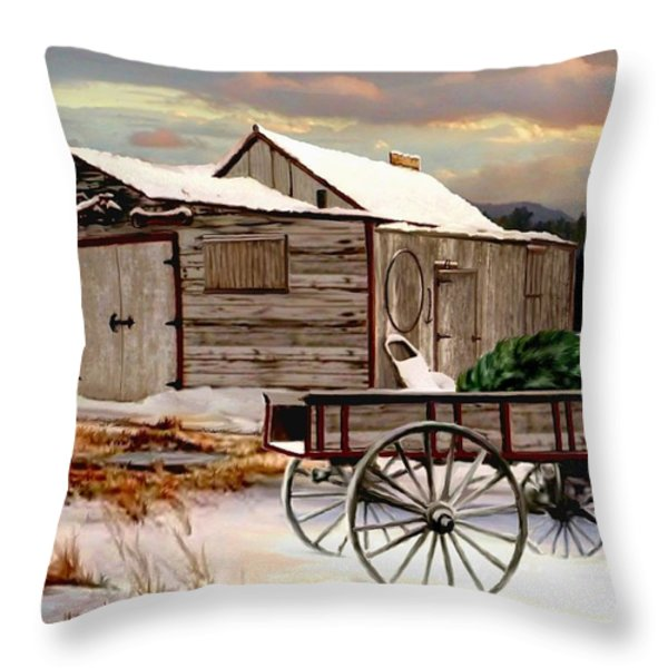 The Christmas Tree Throw Pillow by Ronald Chambers