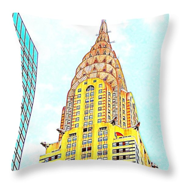 The Chrysler Building Throw Pillow by Ed Weidman