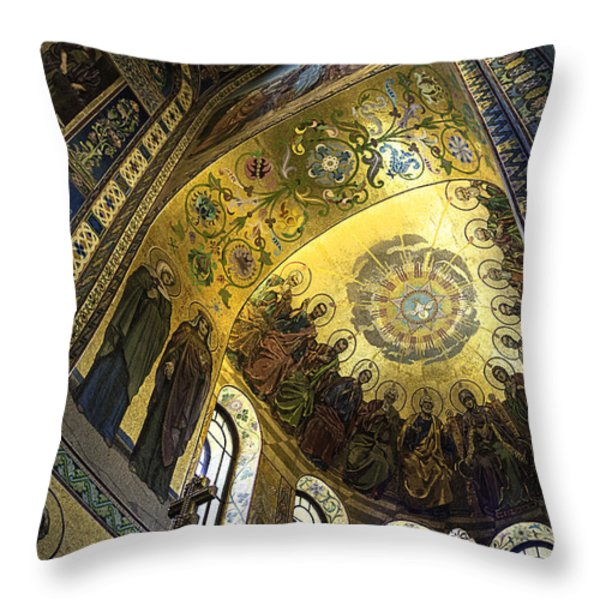 The Church Of Our Savior On Spilled Blood 2 - St. Petersburg - Russia Throw Pillow by Madeline Ellis