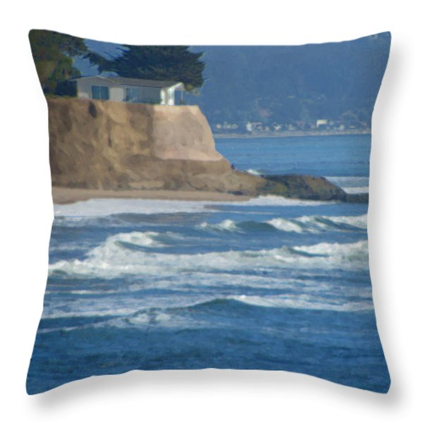 The Cliff House Throw Pillow by Deana Glenz